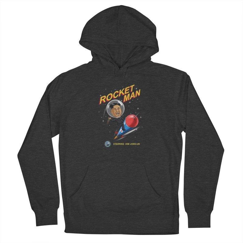 Rocket Man Women's French Terry Pullover Hoody by steveash's Artist Shop