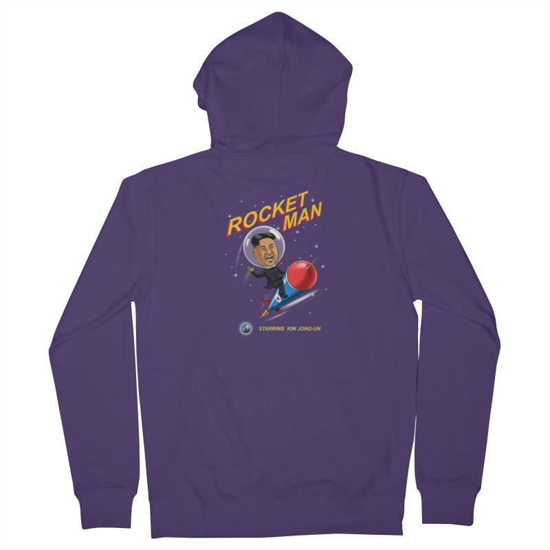Rocket Man Women's French Terry Zip-Up Hoody by steveash's Artist Shop