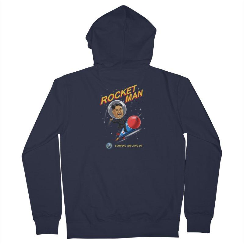 Rocket Man Men's French Terry Zip-Up Hoody by steveash's Artist Shop