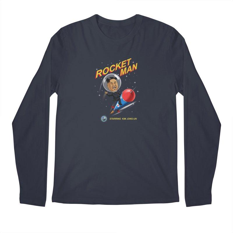 Rocket Man Men's Longsleeve T-Shirt by steveash's Artist Shop