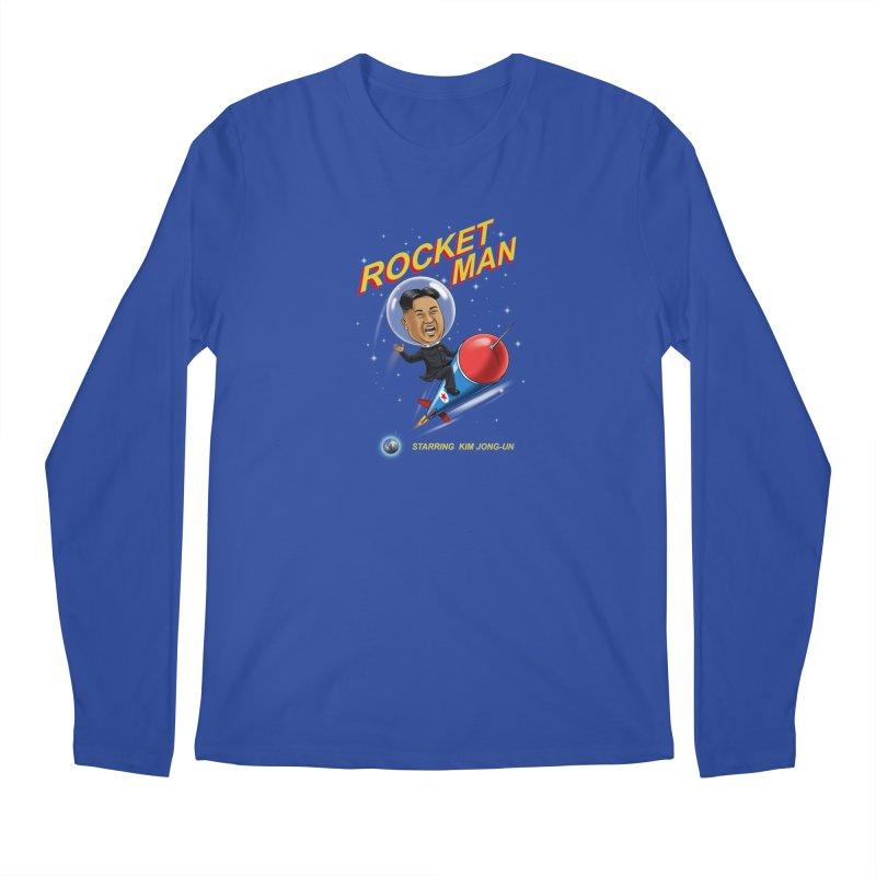 Rocket Man Men's Regular Longsleeve T-Shirt by steveash's Artist Shop