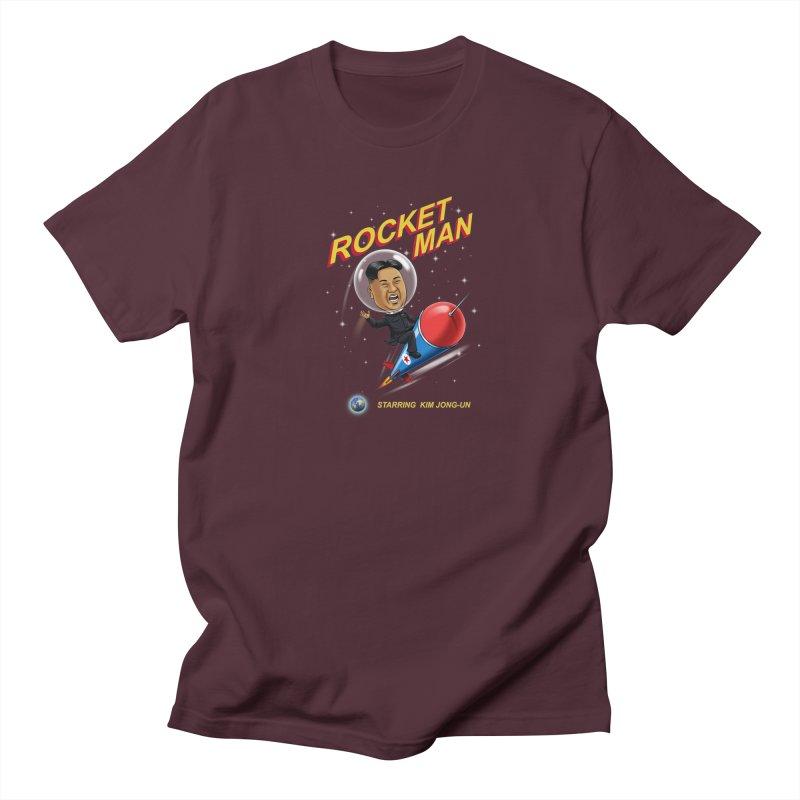 Rocket Man Men's Regular T-Shirt by steveash's Artist Shop