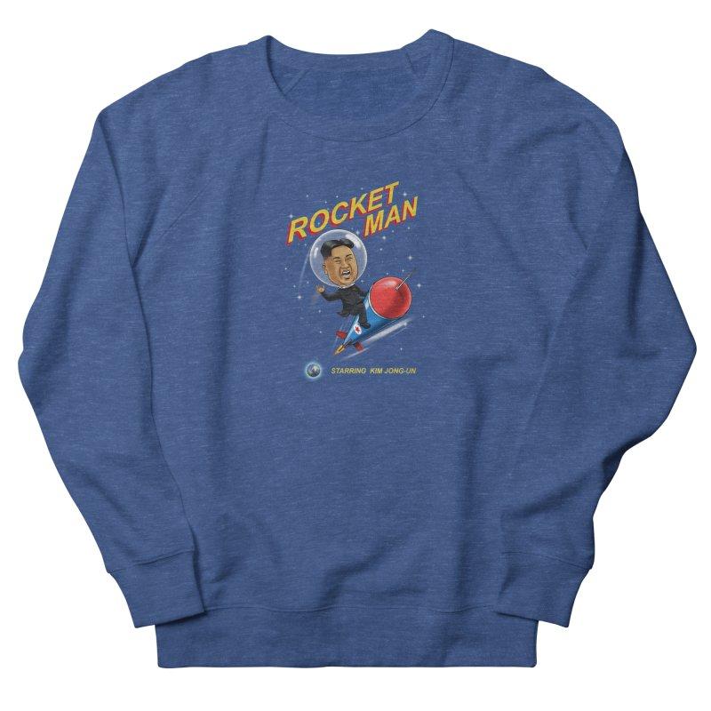 Rocket Man Men's French Terry Sweatshirt by steveash's Artist Shop