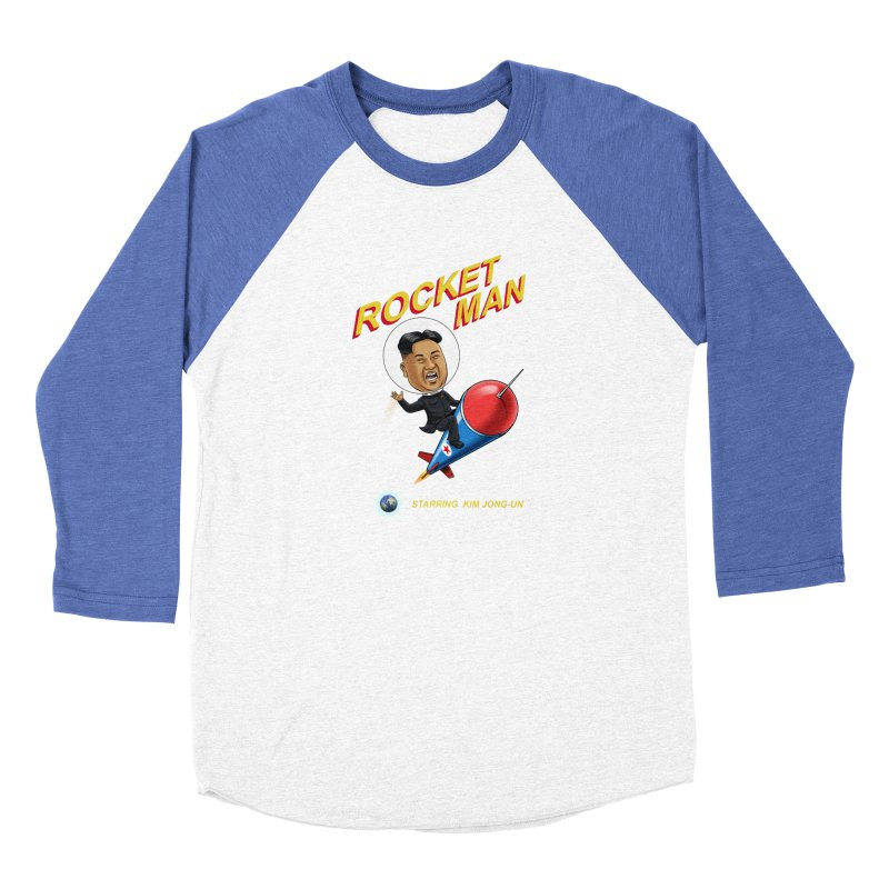 Rocket Man Women's Baseball Triblend Longsleeve T-Shirt by steveash's Artist Shop