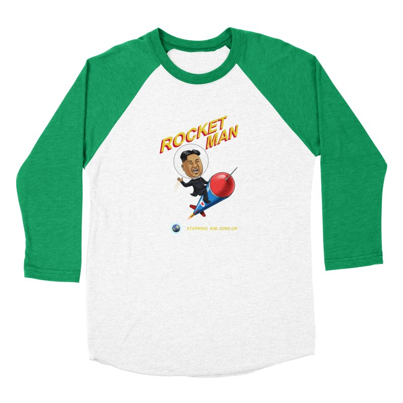 Rocket Man Women's Baseball Triblend T-Shirt by steveash's Artist Shop