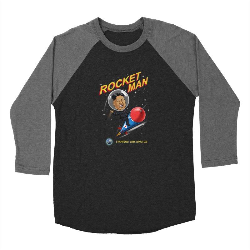 Rocket Man Women's Baseball Triblend Longsleeve T-Shirt by steveash's Artist Shop