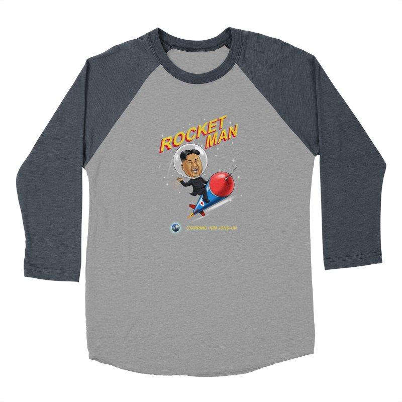 Rocket Man Men's Baseball Triblend Longsleeve T-Shirt by steveash's Artist Shop