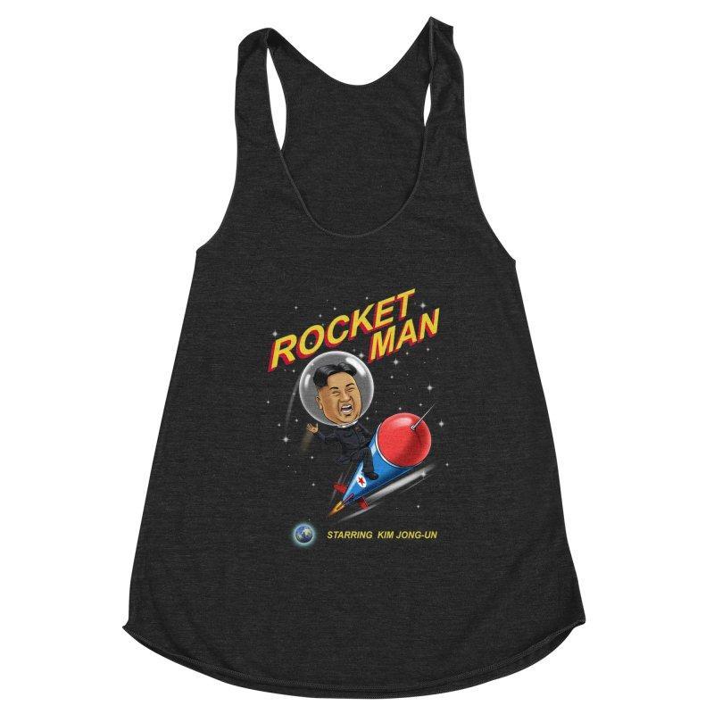 Rocket Man Women's Racerback Triblend Tank by steveash's Artist Shop