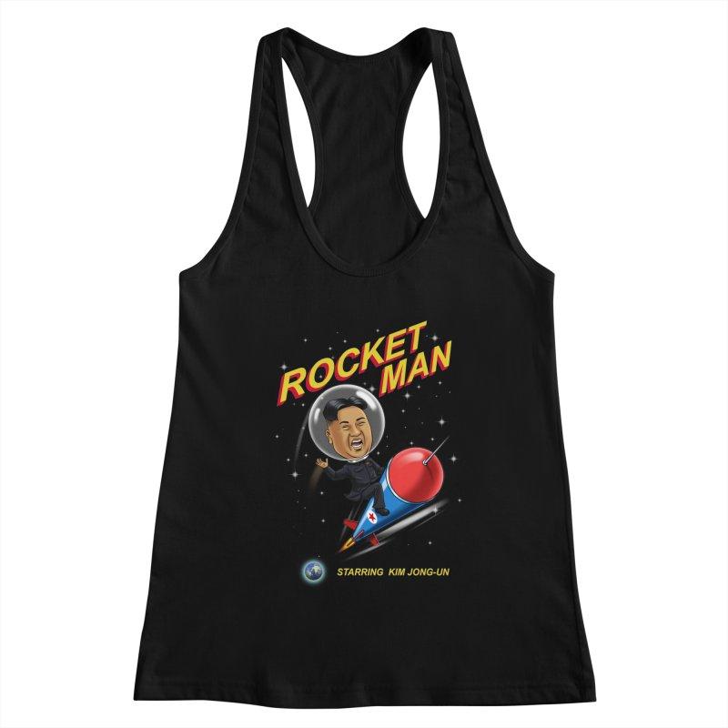 Rocket Man Women's Racerback Tank by steveash's Artist Shop