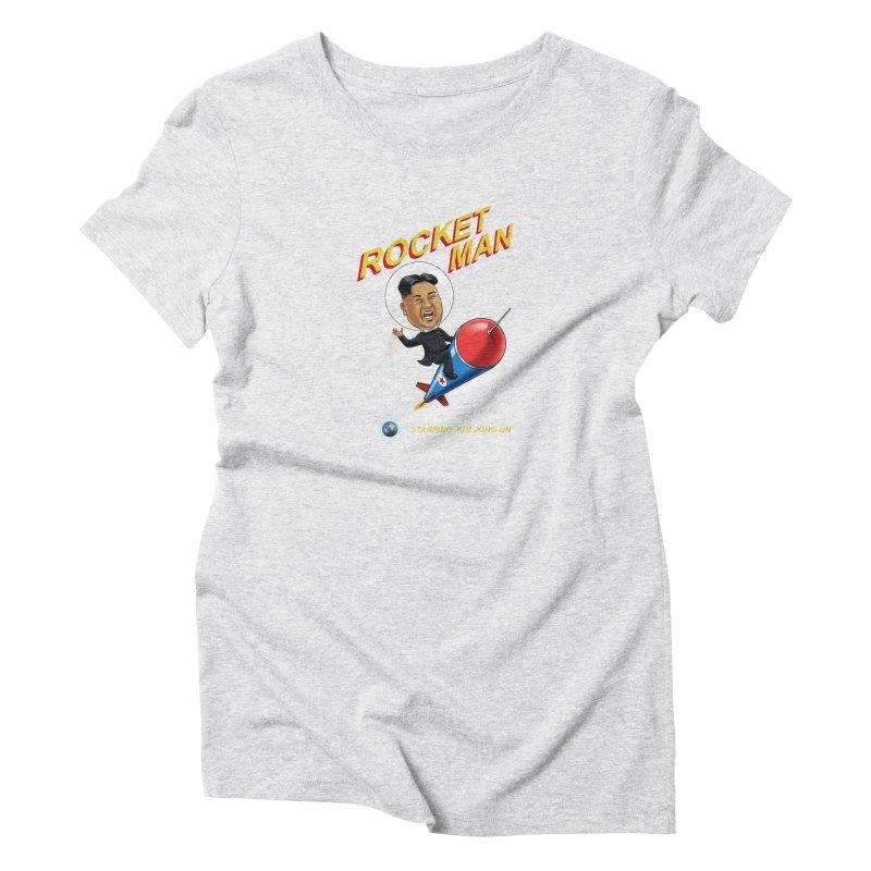 Rocket Man Women's T-Shirt by steveash's Artist Shop
