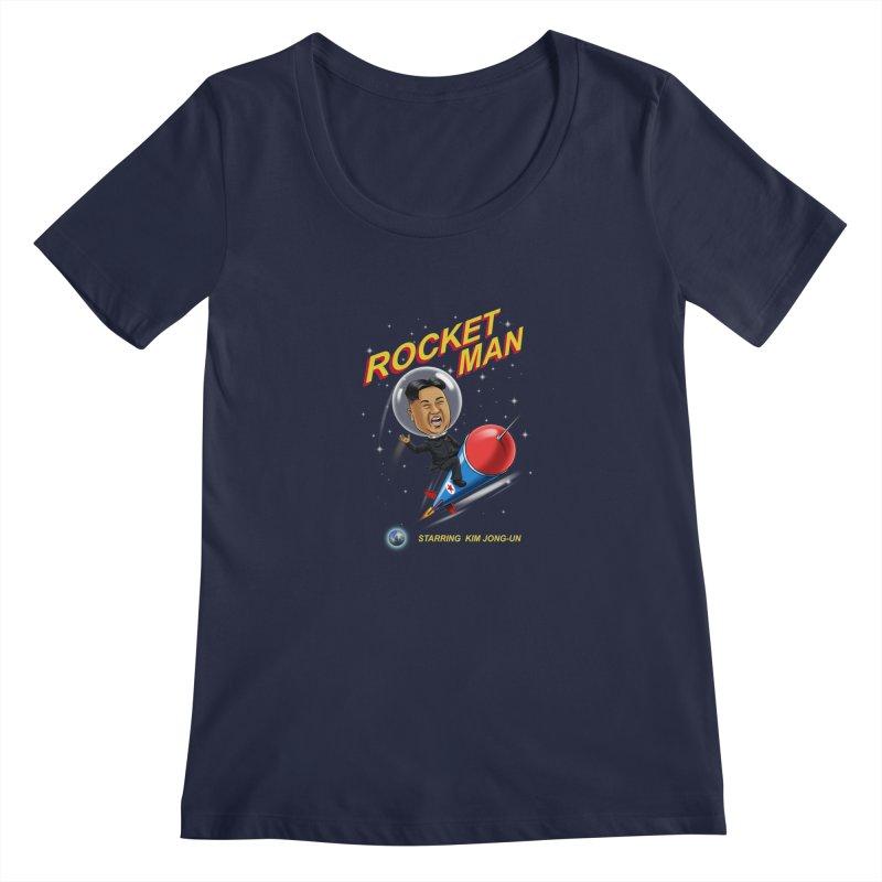 Rocket Man Women's Scoopneck by steveash's Artist Shop