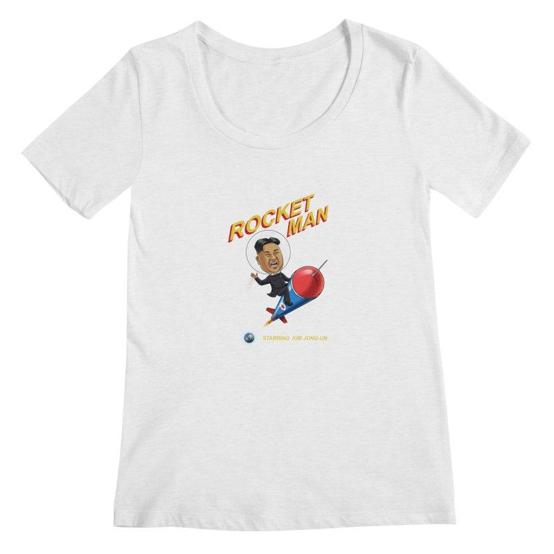 Rocket Man Women's Regular Scoop Neck by steveash's Artist Shop