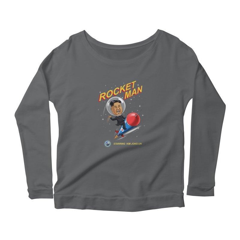 Rocket Man Women's Longsleeve Scoopneck  by steveash's Artist Shop