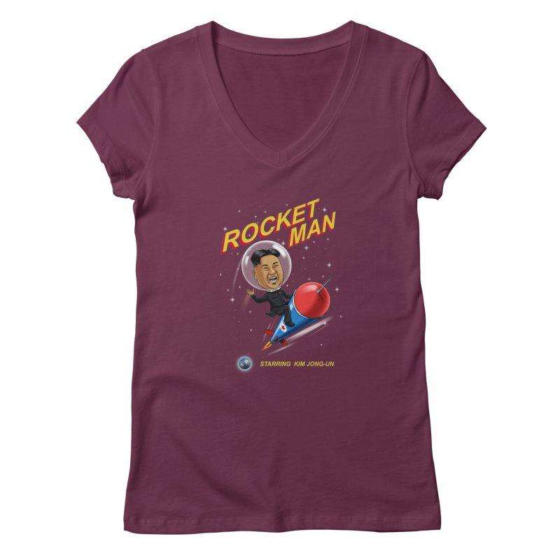Rocket Man Women's Regular V-Neck by steveash's Artist Shop
