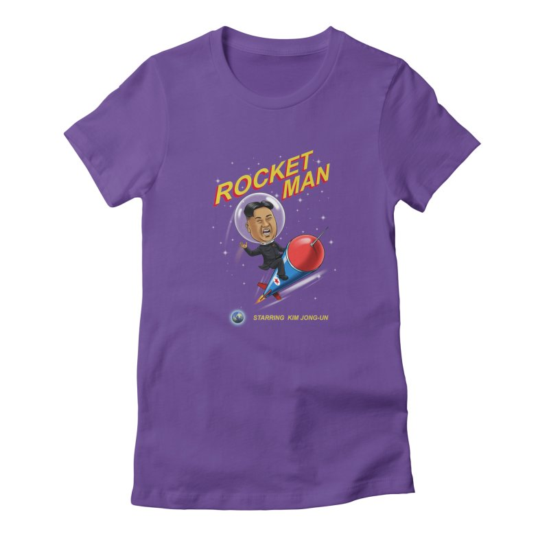 Rocket Man Women's Fitted T-Shirt by steveash's Artist Shop