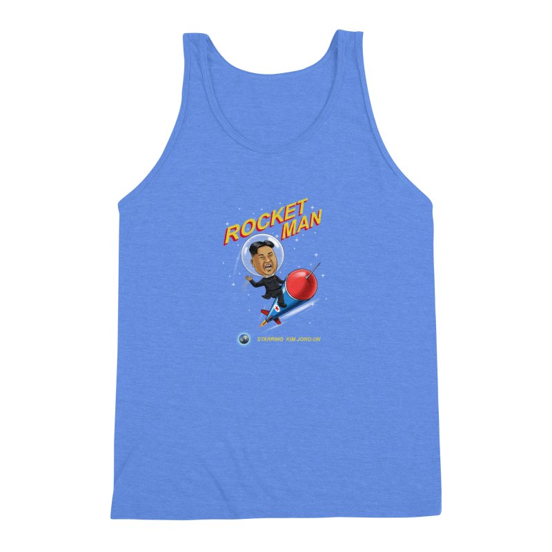 Rocket Man Men's Triblend Tank by steveash's Artist Shop