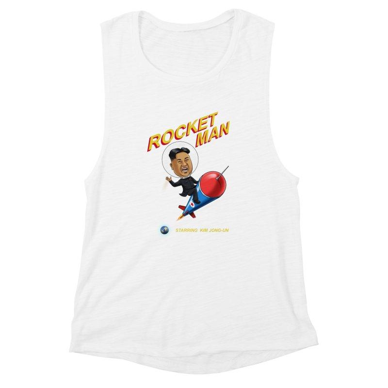Rocket Man Women's Muscle Tank by steveash's Artist Shop