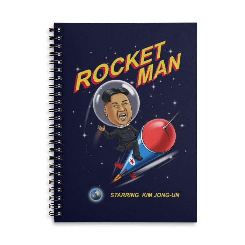 Rocket Man Accessories Lined Spiral Notebook by steveash's Artist Shop