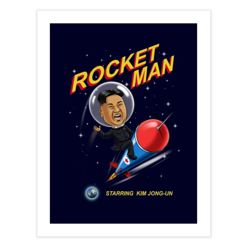 Rocket Man Home Fine Art Print by steveash's Artist Shop