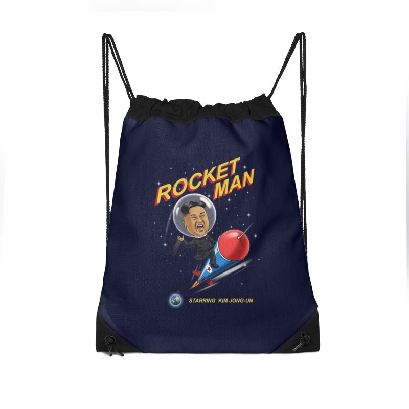 Rocket Man Accessories Drawstring Bag Bag by steveash's Artist Shop