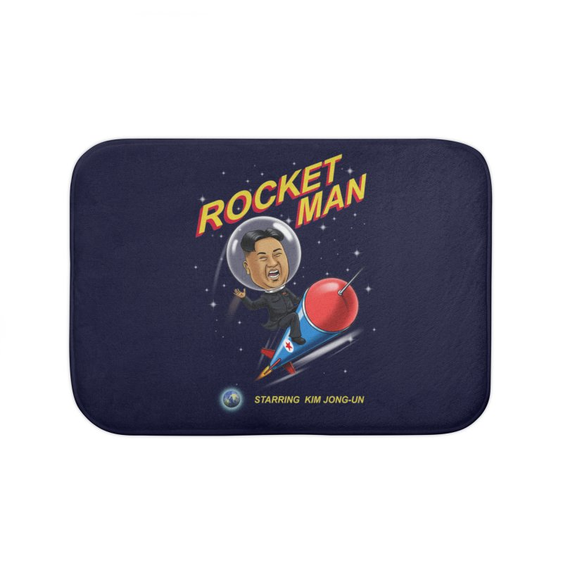 Rocket Man Home Bath Mat by steveash's Artist Shop