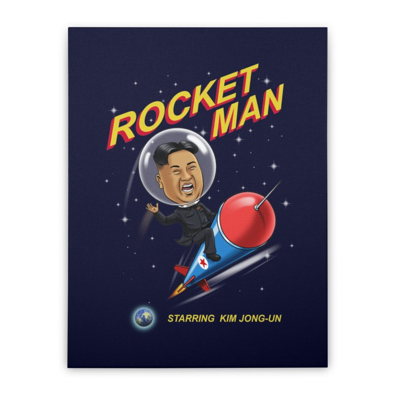 Rocket Man Home Stretched Canvas by steveash's Artist Shop