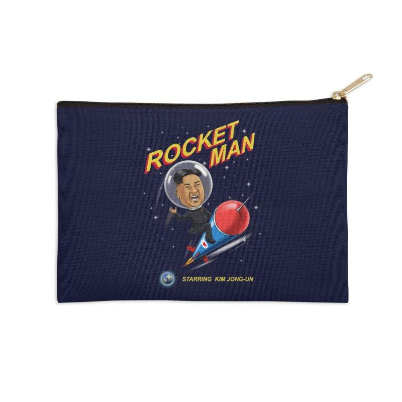 Rocket Man Accessories Zip Pouch by steveash's Artist Shop