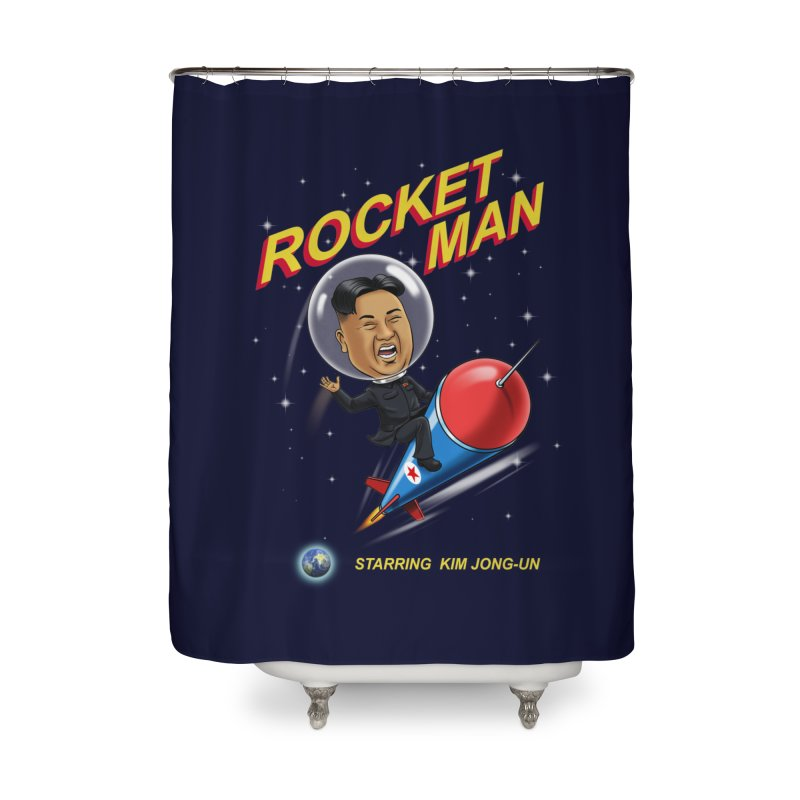 Rocket Man Home Shower Curtain by steveash's Artist Shop