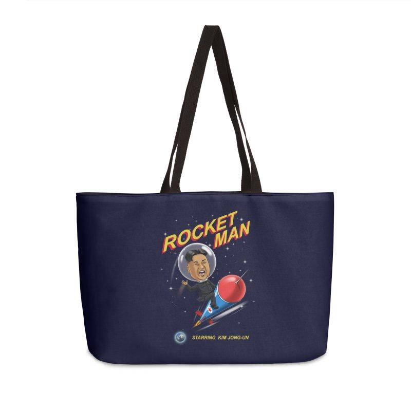 Rocket Man Accessories Weekender Bag Bag by steveash's Artist Shop