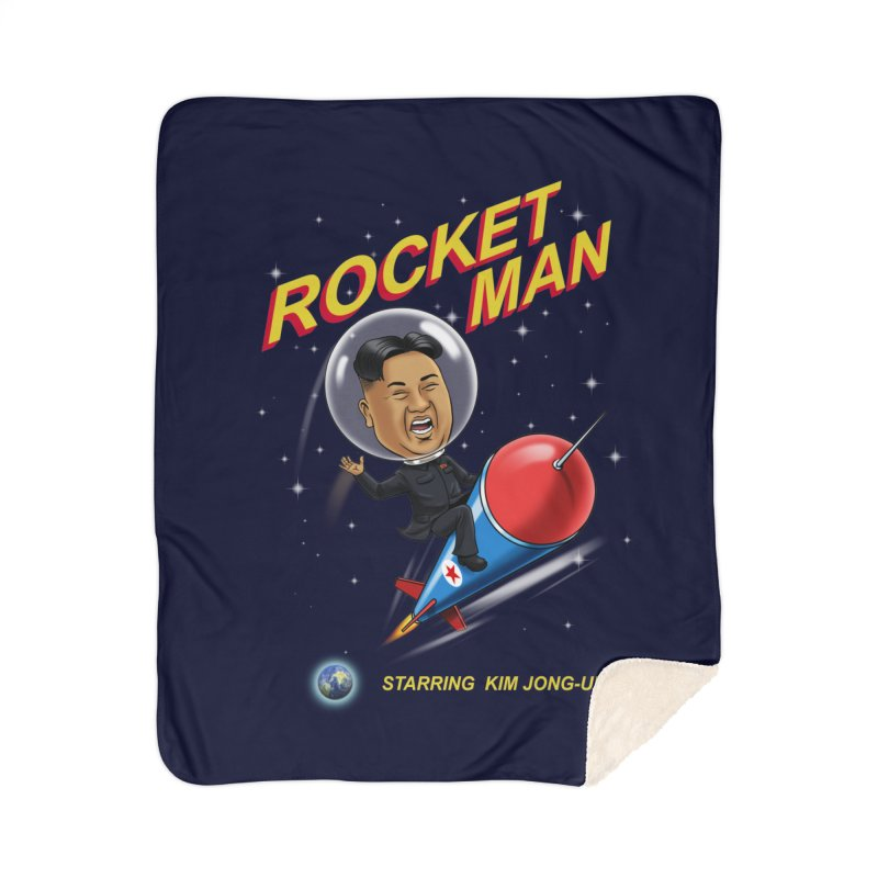 Rocket Man Home Sherpa Blanket Blanket by steveash's Artist Shop