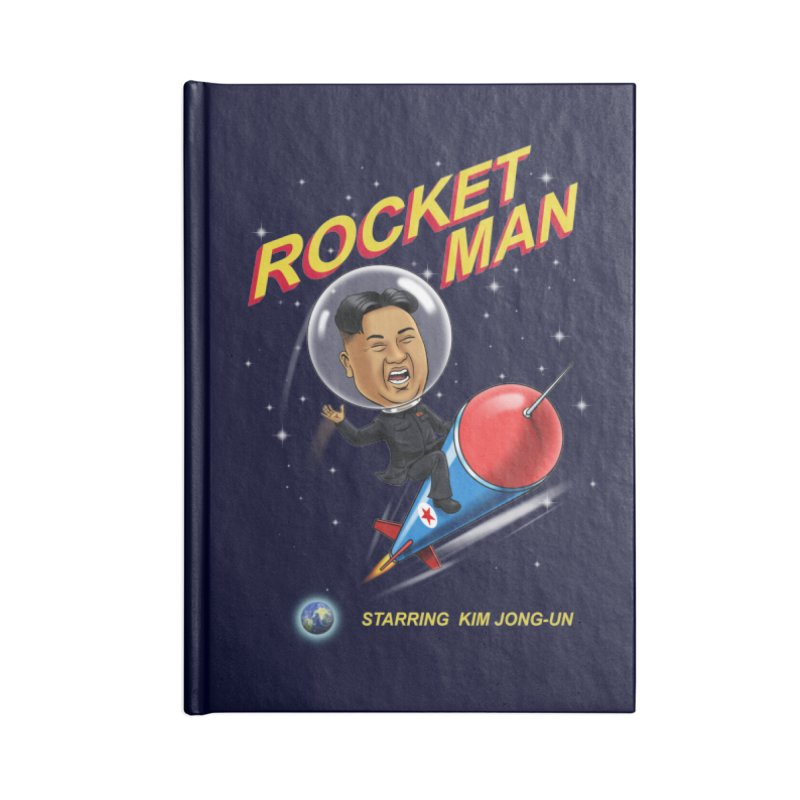 Rocket Man Accessories Blank Journal Notebook by steveash's Artist Shop