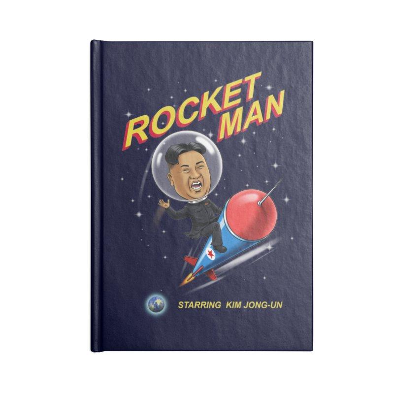 Rocket Man Accessories Lined Journal Notebook by steveash's Artist Shop