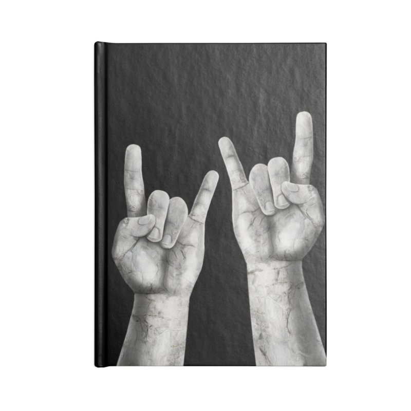 Rock Hands Accessories Blank Journal Notebook by steveash's Artist Shop