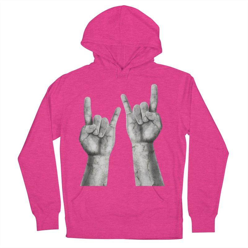 Rock Hands Women's Pullover Hoody by steveash's Artist Shop