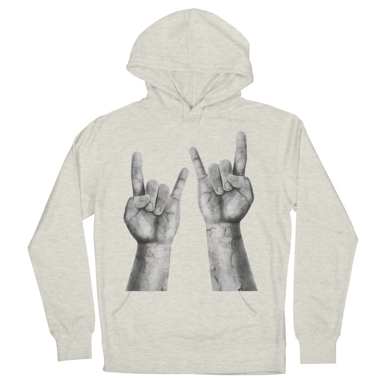 Rock Hands Men's French Terry Pullover Hoody by steveash's Artist Shop
