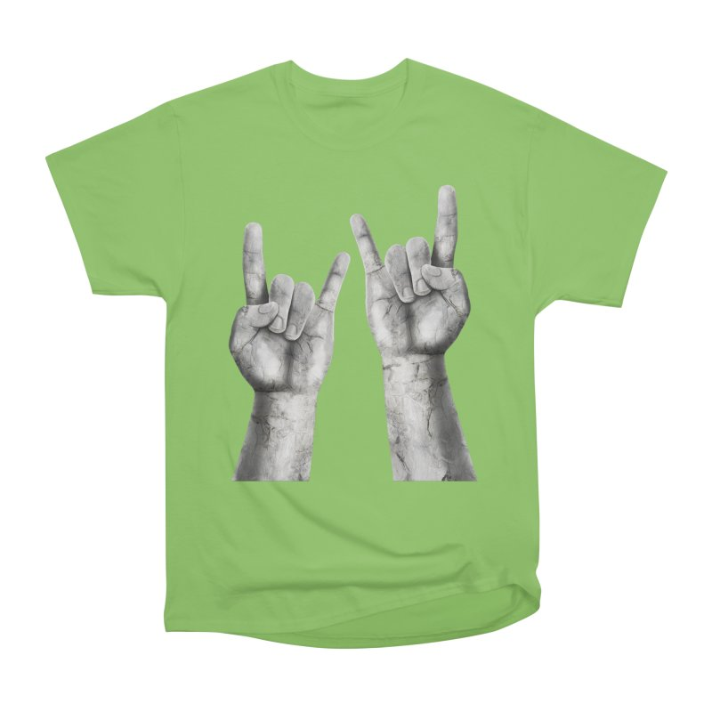 Rock Hands Women's Heavyweight Unisex T-Shirt by steveash's Artist Shop