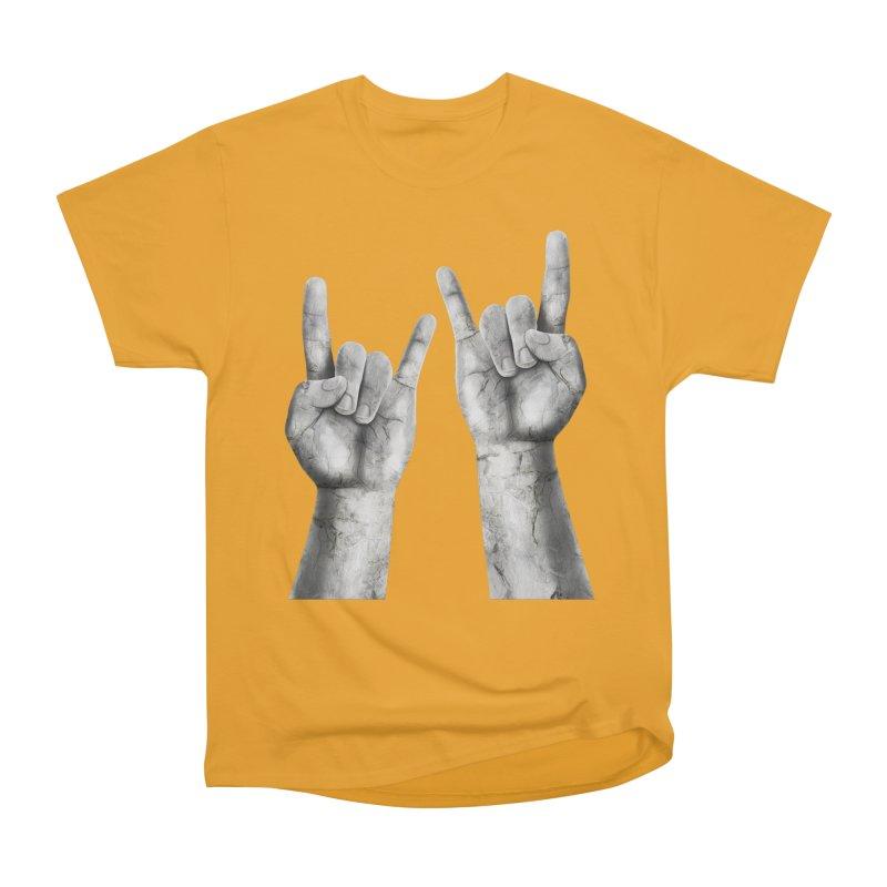 Rock Hands Women's Heavyweight Unisex T-Shirt by steveash's Artist Shop