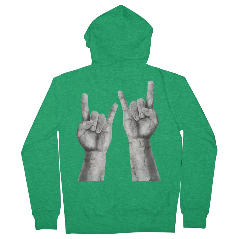 Rock Hands Men's Zip-Up Hoody by steveash's Artist Shop