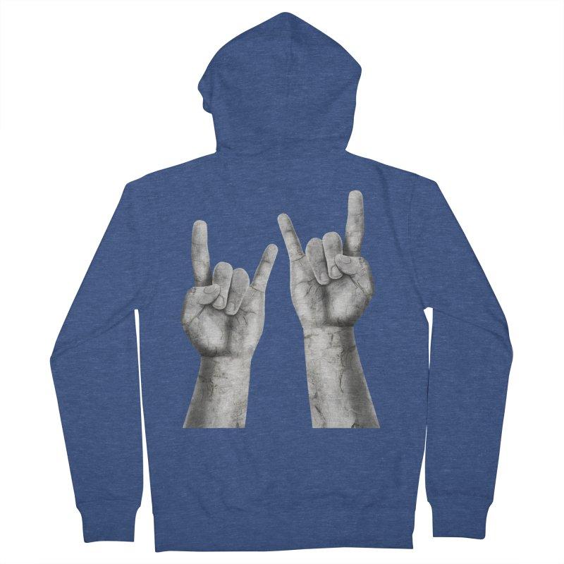 Rock Hands Men's Zip-Up Hoody by steveash's Artist Shop