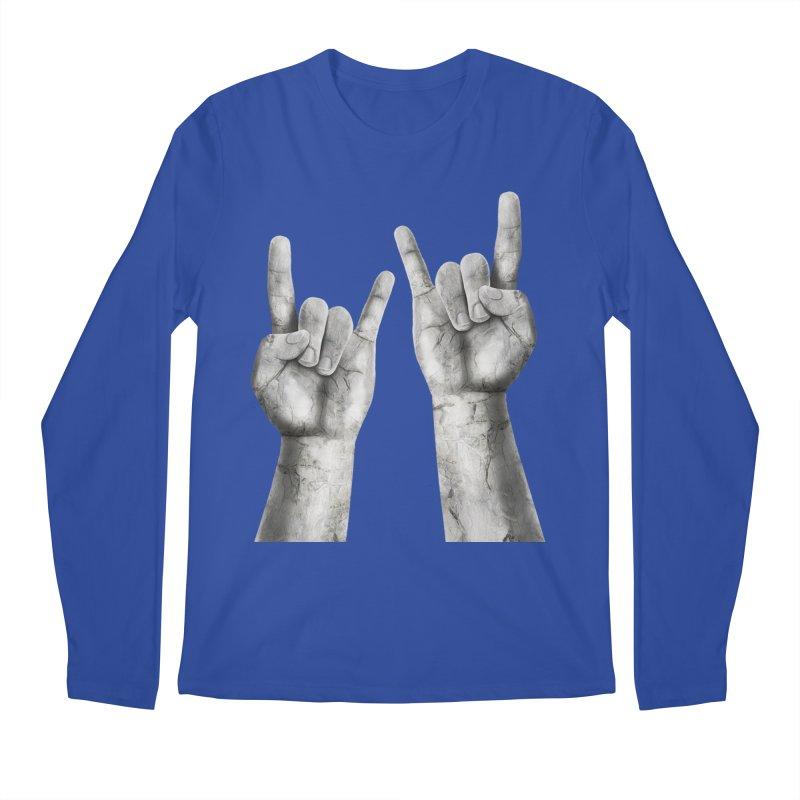 Rock Hands Men's Longsleeve T-Shirt by steveash's Artist Shop