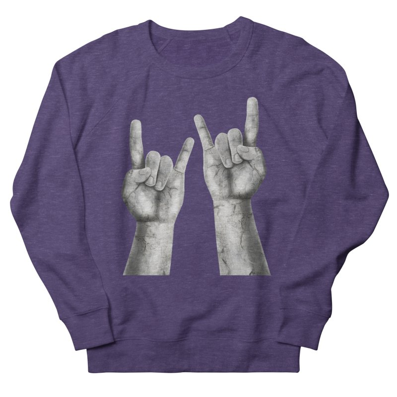 Rock Hands Women's Sweatshirt by steveash's Artist Shop