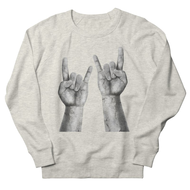 Rock Hands Women's French Terry Sweatshirt by steveash's Artist Shop