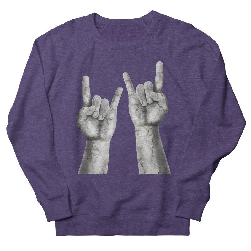 Rock Hands Men's French Terry Sweatshirt by steveash's Artist Shop