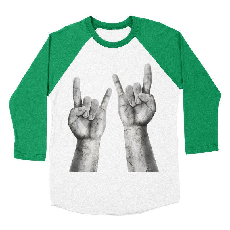 Rock Hands Men's Baseball Triblend Longsleeve T-Shirt by steveash's Artist Shop