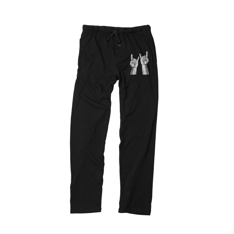Rock Hands Men's Lounge Pants by steveash's Artist Shop