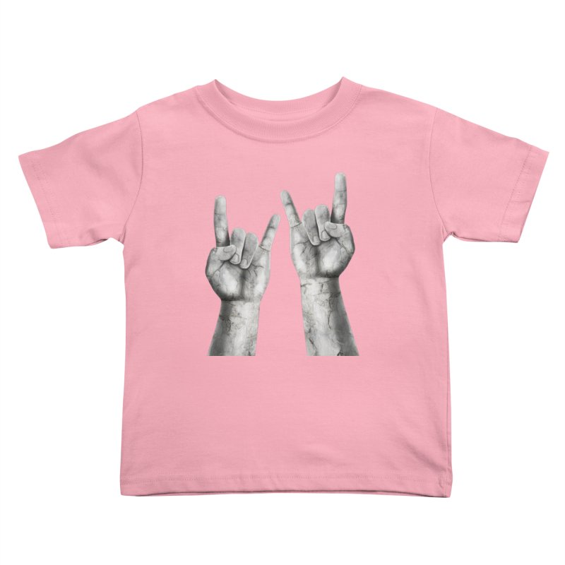 Rock Hands Kids Toddler T-Shirt by steveash's Artist Shop