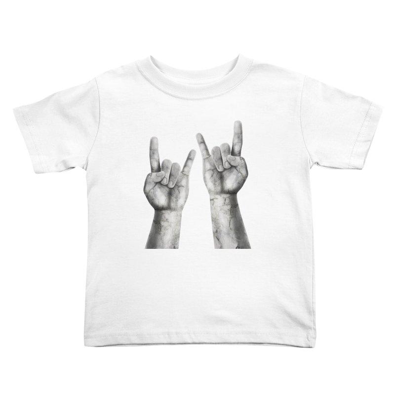Rock Hands Kids Toddler T-Shirt by steveash's Artist Shop