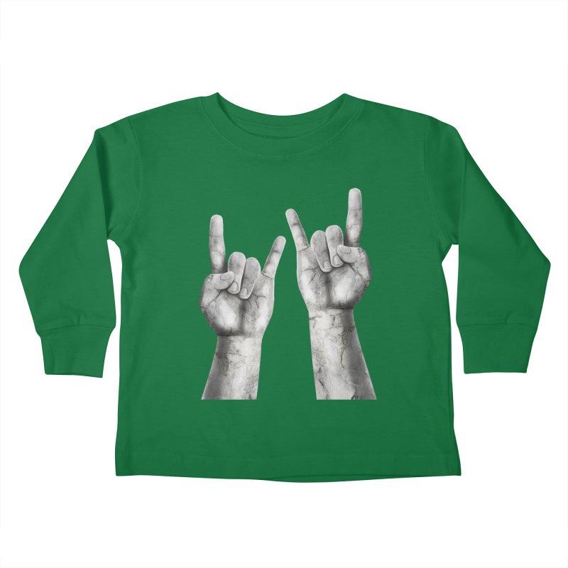 Rock Hands Kids Toddler Longsleeve T-Shirt by steveash's Artist Shop