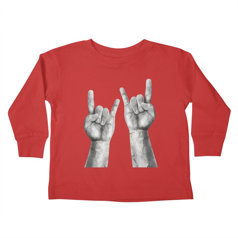 Rock Hands Kids Toddler Longsleeve T-Shirt by steveash's Artist Shop