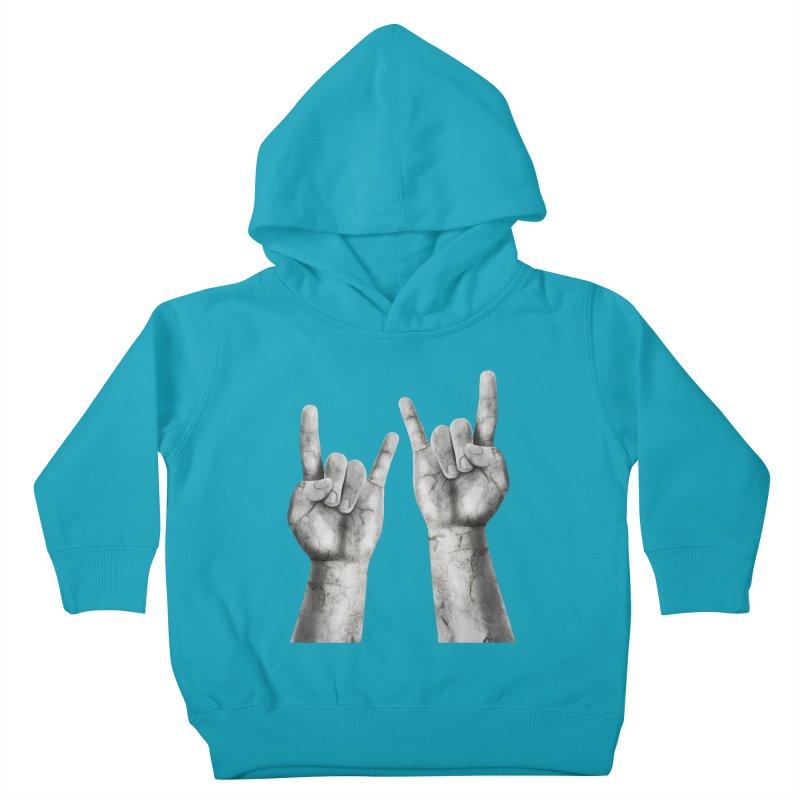 Rock Hands Kids Toddler Pullover Hoody by steveash's Artist Shop